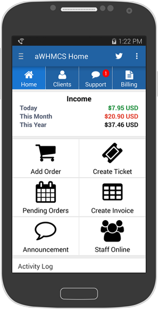 AWHMCS Android App For WHMCS - Mobile invoice app android